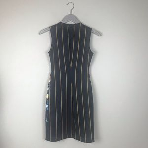 Clover Canyon Dresses - Clover Canyon Dark Navy Floral And Striped Dress